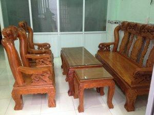 Bộ ghế gỗ gõ đỏ tay 12