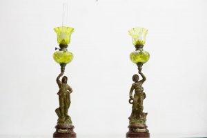 Đôi đèn dầu cổ Marin và Pecheur (LH: Ms.Hằng 0979 837 869)