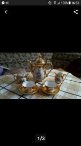 Bán bộ cốc trà mạ vàng của Đức