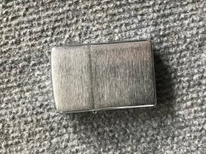 Zippo brush chrome