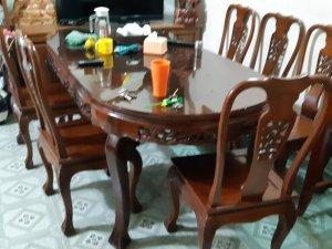 Bộ bàn ăn 6 ghế hương chun vn xưa