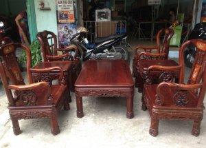 Bộ ghế gỗ cẩm laiviệt lâu năm tay 8