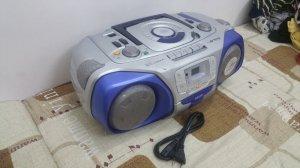 Đài CD Radio Cassette SANYO MCD-V99 (Hàng xuất điện Zin 220 vol)