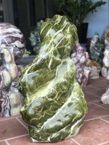 Ms 9136.Cây đá xanh tự nhiên,cao 89cm-CHẤT NGỌC ĐẸP CHẤM HẾT