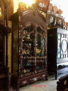 Tủ gỗ gõ đỏ bày rựu cực đẹp