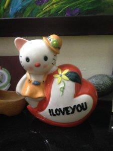 Mèo Kitty đựng tiền tiết kiệm, cao 20cm, còn mới nguyên