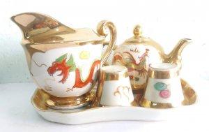Bộ ấm uống trà rồng phượng độc lạ quý hiếm
