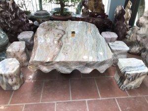 Ms 9157.Bộ bàn đá tự nhiên- ĐÁNG SƯU TẦM