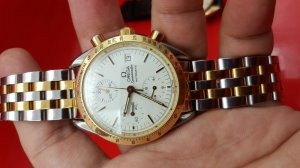 Đồng hồ Omega Speedmaster Chronograph đơmi vàng 18k
