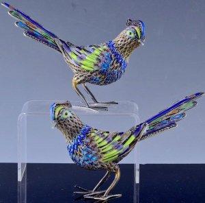 Nhờ anh em thẩm định giá trị cặp chim bằng bạc hàng deco art 1920