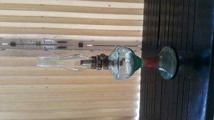 Đèn dầu cổ bằng thủy tinh cao 35 cm