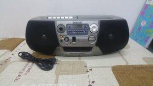 Đài CD Radio Cassette SONY CFD-V27 Hàng xuất điện 220 vol