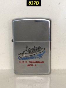 837D-hp chrome 1983 -USS SAVANNAH AOR -4
