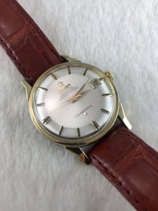 "Omega Constellation Pie Pan Chronometer Automatic ""dog leg lug"" demi 14k Cal561"