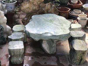 Ms 9180.Bộ bàn đá ngọc xanh...