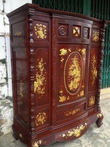 Tủ thờ xưa gỗ cẩm lai