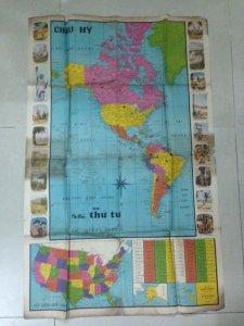 Bản đồ châu mỹ xb năm 1967 báo thức tư