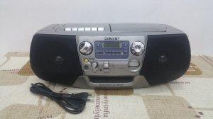 Đài CD Radio Cassette SONY CFD-V27 (Hàng xuất điện Zin 220 vol)