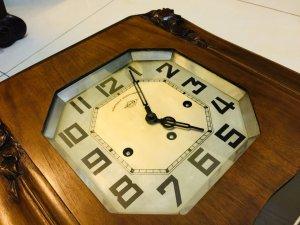 Đồng hồ pháp thùng bè 8 gông đồng 2 bản nhạc