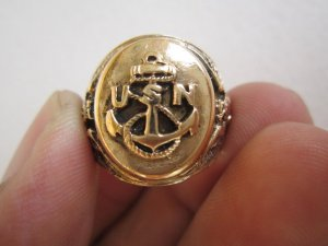 Nhẫn Hải quân Hoa kỳ thế chiến thứ II, from to, size 18,9mm