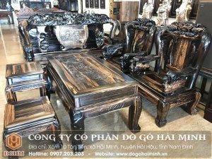 Bộ Salong Minh Quốc Chim Công gỗ Mun – Mã số: SAL3501