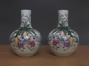 Cặp bình hoa thời vua CÀN LONG thế kỷ 18-19