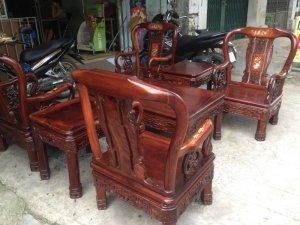 Bộ ghế gỗ cẩm lai việt lâu năm 7 món
