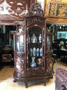 Tủ chùa cũ khảm ốc