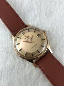 Omega Constellation Pie Pan Chronometer Automatic solid 18k Rose gold Case & Dial Cal561