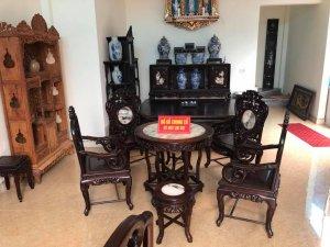Bộ bàn ghế Trúc hàng đẹp kĩ