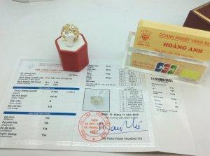 Nhẫn Nữ 14K Gold Diamond ổ...