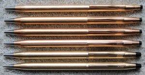 Lô bút bi và bút chì Cross - USA. Có 6 cây, 4 bút bi, 2 bút chì.
