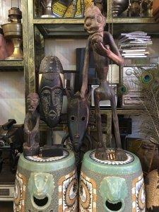 Đồ gỗ mỹ nghệ khỉ, mặt nạ pully