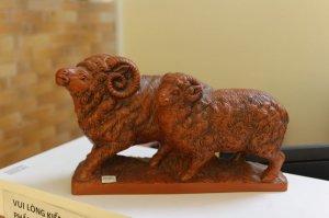 tượng 2 con cừu, 19*30cm, W40-00014