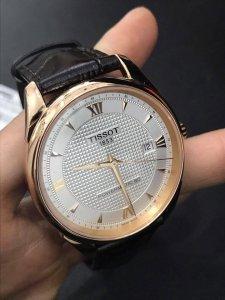 Đồng hồ Tissot Powermatic, vàng hồng 18k, size 40