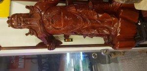 Bán tượng quan công băng gỗ