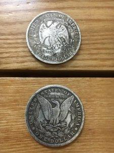 Cặp tiền xu đồng mạ bạc, giá cho người st 200k/cặp