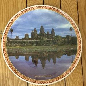 Đĩa lưu niệm Angcowatt, chất liệu Melamin, đk 25,5 cm