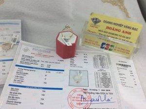 Nhẫn vàng nhập ngoại gắn kim cương thiên nhiên có kiểm định gốc của GIA đã mất giấy ( mã 2175073082)