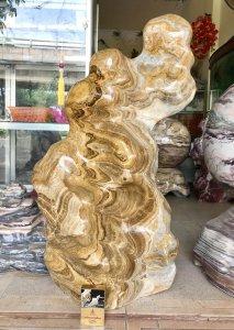 Cây đá vân gỗ, dáng phiêu, nặng 50kg, giá 4 triệu