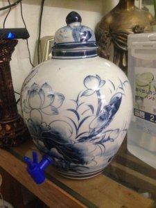 Chóe ngâm rượu sứ Bát Tràng có vòi mới tinh , dung tích 7l, giá 250k