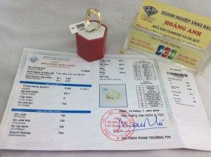 Nhẫn nam nhập ngoại gắn 1 viên kim cương thiên nhiên có kiểm định H25609