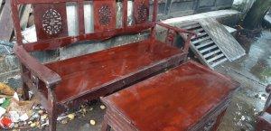 Bộ bàn salon gõ đỏ