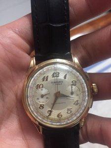 Đồng hồ Temporis Chronograph vàng hồng 18k, 1940s
