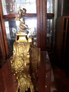 Đồng hồ để bàn Pháp mạ vàng