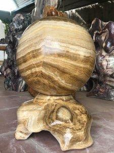 Ms 9280.Cầu đá can xít vàng đẹp,đườn g kính 38cm.Lh:0968 551 668