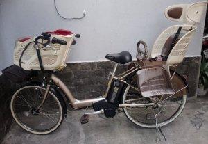Xe đạp trợ lực siêu vip có yên chở trẻ em nội địa Yamaha