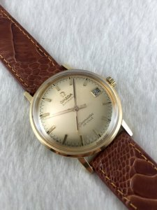 Omega Seamaster Deville Automatic solid 18k gold Cal565 Yellow dial