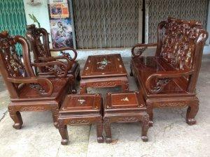 Bộ ghế 6 món gỗ gõ mật