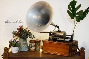 Máy hát loa kèn ống nhạc Pathe' Phonograph